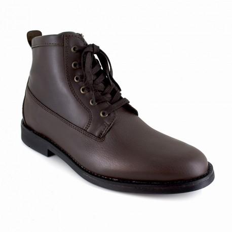 J.bradford Bottine  Cuir  JB-APPLE Marron - Livraison Gratuite avec - Chaussures Boot Homme