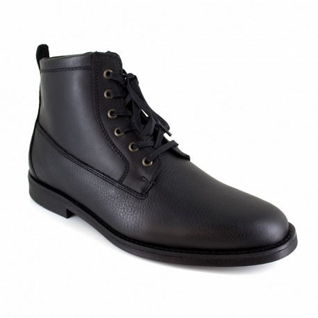 Low Boots J.Bradford Black Leather JB-APPLE