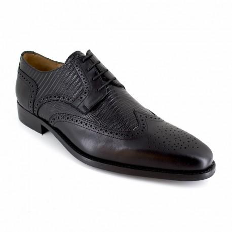J.bradford Derby  Cuir  JB-FONTE Noir - Chaussures Derbies Homme