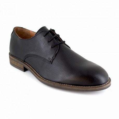 J.bradford Derby  Cuir  JB-MIVER Noir - Chaussures Derbies Homme