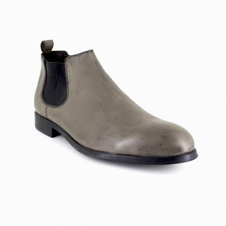 J.bradford Bottine  Cuir JB-Bristol Gris - Livraison Gratuite avec - Chaussures Boot Homme