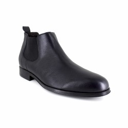 Low Boots J.Bradford Navy Blue Leather JB-Bristol
