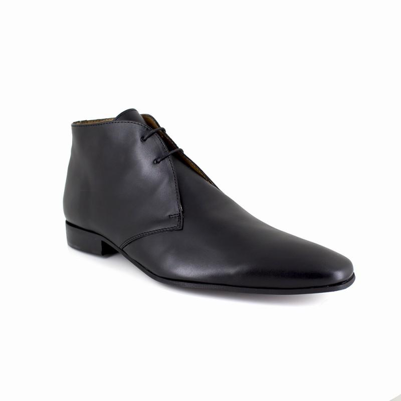 J.bradford Bottine  Cuir  JB-DOCATTI Noir - Livraison Gratuite avec - Chaussures Derbies Homme