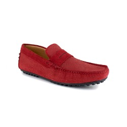 Loafer J.BRADFORD Red Leather JB-ALIZE