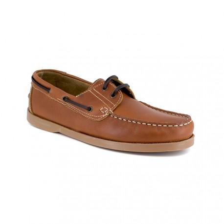 Boat Loafer J.BRADFORD Cognac Leather JB-SAIL