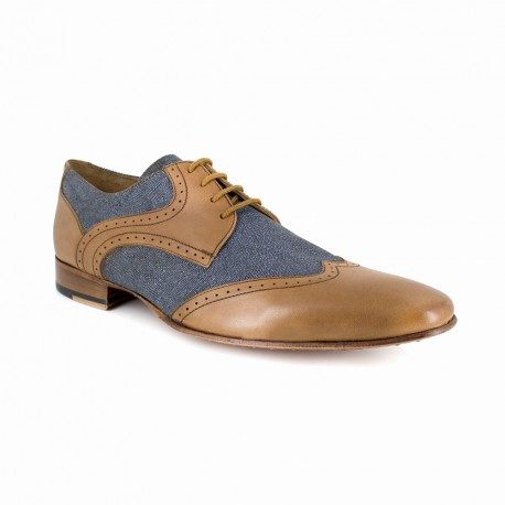 Derby J.Bradford Blue Leather JB-BLUE
