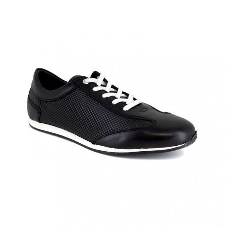 Sneaker J.Bradford Black Leather JB-IRAZU