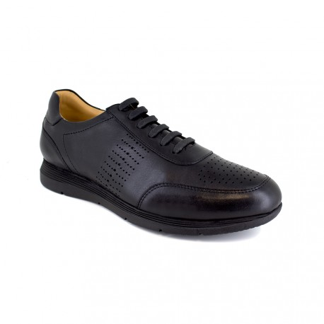 Dressed Sneaker J.Bradford Black Leather JB-JUCAR