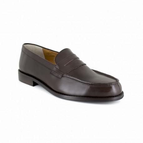 sélectionner pour dernier Nouvelle liste chaussures pour pas cher Mocassin J.Bradford Cuir Marron JB-PAULO