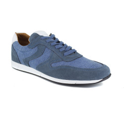 Sneaker J.BRADFORD Blue Leather JB-KERMARIO