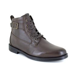 Low Boots J.Bradford Brown Leather JB-VARS