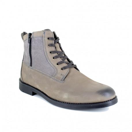 Low Boots J.Bradford Grey Leather JB-ARCS