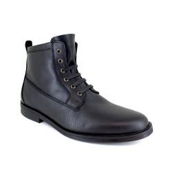 Low Boots J.Bradford Black Leather JB-STRAWBER