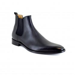 Low Boots J.Bradford Black Leather JB-DUMET