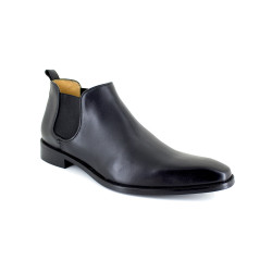 Low Boots J.Bradford Black Leather JB-DANET
