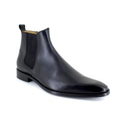 Low Boots J.Bradford Black Leather JB-TOMY