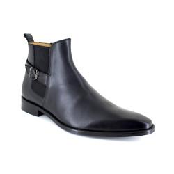 Low Boots J.Bradford Black Leather JB-KIRANO