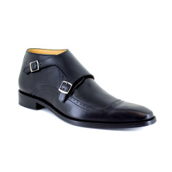 Low Boots J.Bradford Black Leather JB-MANZO