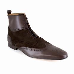 Low Boots J.Bradford Brown Leather JB-DONAS