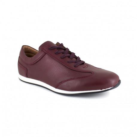 Sneaker J.Bradford Burgendy Leather JB-KERLANN