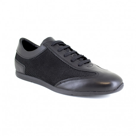 Sneaker J.Bradford Black Leather JB-RAMBLA