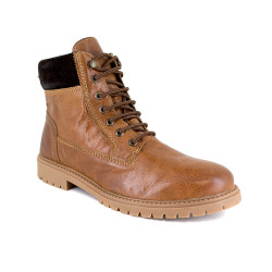 Low boot J.Bradford Cognac Leather JB-ALMOND