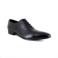 Richelieu J.Bradford Black Leather JB-BRUSSELTON