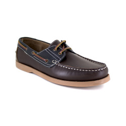 Boat Loafer J.BRADFORD Brown-Navy Blue Leather JB-CANOA