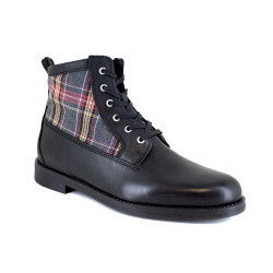 Low boot J.Bradford Black Leather JB-BERNI21
