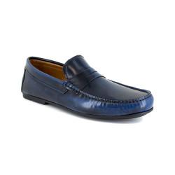 Loafer J.Bradford Blue Leather JB-SERJIO