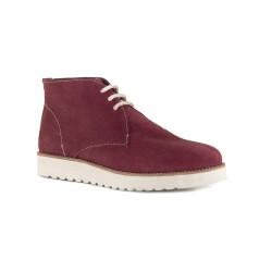 Womens Low Boots J.Bradford Burgundy Leather JB-ELIZA