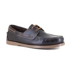 Mens Boat Shoe J.Bradford Brown Leather JB-CLASSE