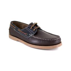 Boat Loafer J.BRADFORD Brown-Navy Blue Leather JB-CANOA